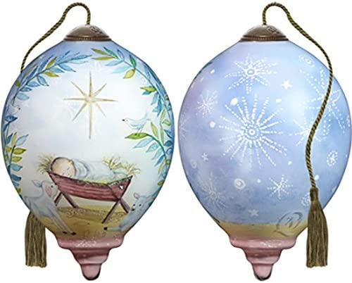 Multicolor NeQwa Art Hand Painted Blown Glass Let All Creation Sing Ornament