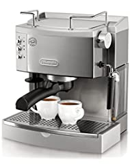 DeLonghi EC702 15-Bar-Pump Espresso Maker, Stainless, Metal