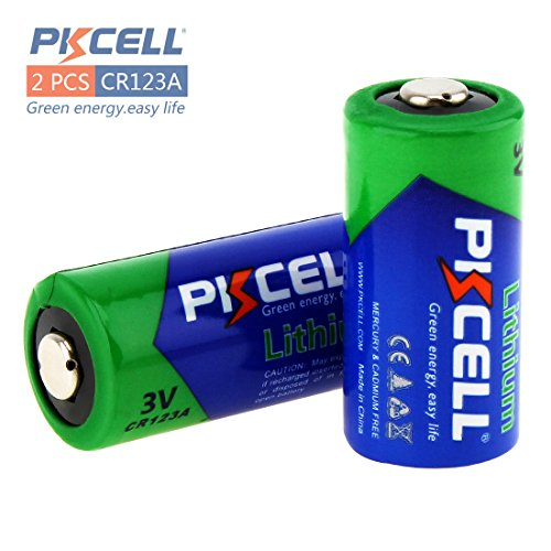 Pkcell 1500mAh 3V CR123A Lithium Battery, Lithium Photo Batteries CR123A Cell Batteries PTC Protection for Cameras, Flashlight Camera, Arlo Cameras, Polaroid, Microphones etc from PK Cell