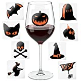 Halloween Wine Glass Markers - Fun Party Decoration Props - Wine Charms Alternative - Set of 18
