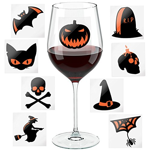 Halloween Party Wine Glass Markers - Fun Decoration Props - Wine Charms Alternative