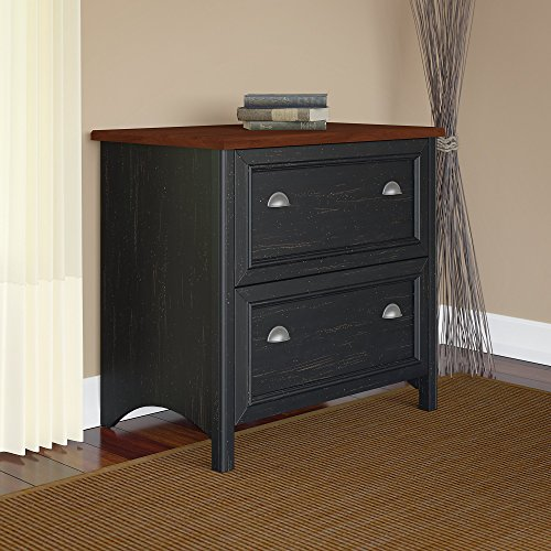 Stanford Lateral File Cabinet in Antique Black by Bush Furniture