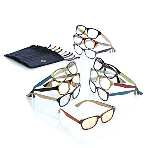 JOY MANGANO 20-PIECE READING GLASSES COUTURE SHADES READERS WITH SMART LENSES AND DESIGNER FRAMES - Shades Joy's Readers