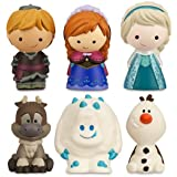 Disney Frozen 6 Pc. Bath Tub Pool Toy Set Olaf Elsa Anna Sven Kristoff Marshmallow