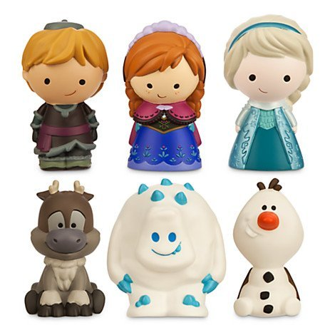 Bath Princess Disney (Disney Frozen 6 Pc. Bath Tub Pool Toy Set Olaf Elsa Anna Sven Kristoff Marshmallow)