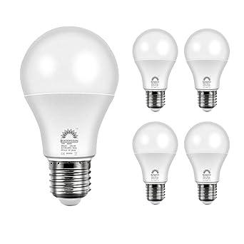 Pack 5 Bombillas LED A60 10W lote bombillas 850 lúmenes 4500ºK luz neutra para casa ahorro