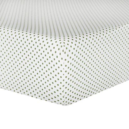 - Tadpoles Crib Fitted Sheet, Mini Polka Dot/Sage