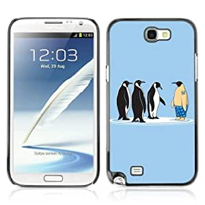 YOYOSHOP [Funny Penguins] Samsung Galaxy Note 2 Case by lolosakes