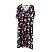 Undercover Mama House Dress 24-7 (One Size, Floral Navy)
