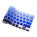 "Keyboard Cover For Acer Chromebook 14 inch Chromebook CB3-431 | CP5-471 Silicone Skin Laptops Accessories By Casiii | 14"" Ombre Blue"