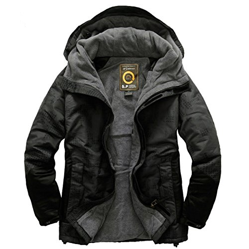 Southplay Mens Camouflage Hooded Waterproof Ski-snowboard North Military Jacket