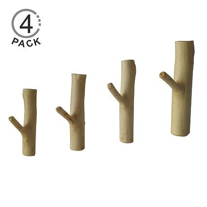Madera adhesivo ganchos, ganchos de pared jerboll con 3 m ...