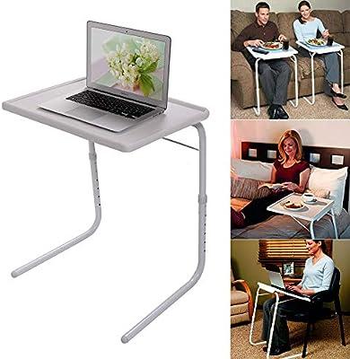 Amazon.com: Mesa de TV plegable y plegable, mesa de ...