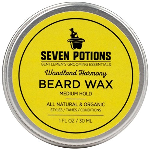 Seven Potions Beard Wax, 1 oz. - Woodland Harmony Medium Hold