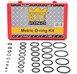 Metric O Ring Kit Assortment Set, Assorted Buna-N, 70A Durometer, 419 Pieces, 32 O-Ring Sizes, Orings Pack