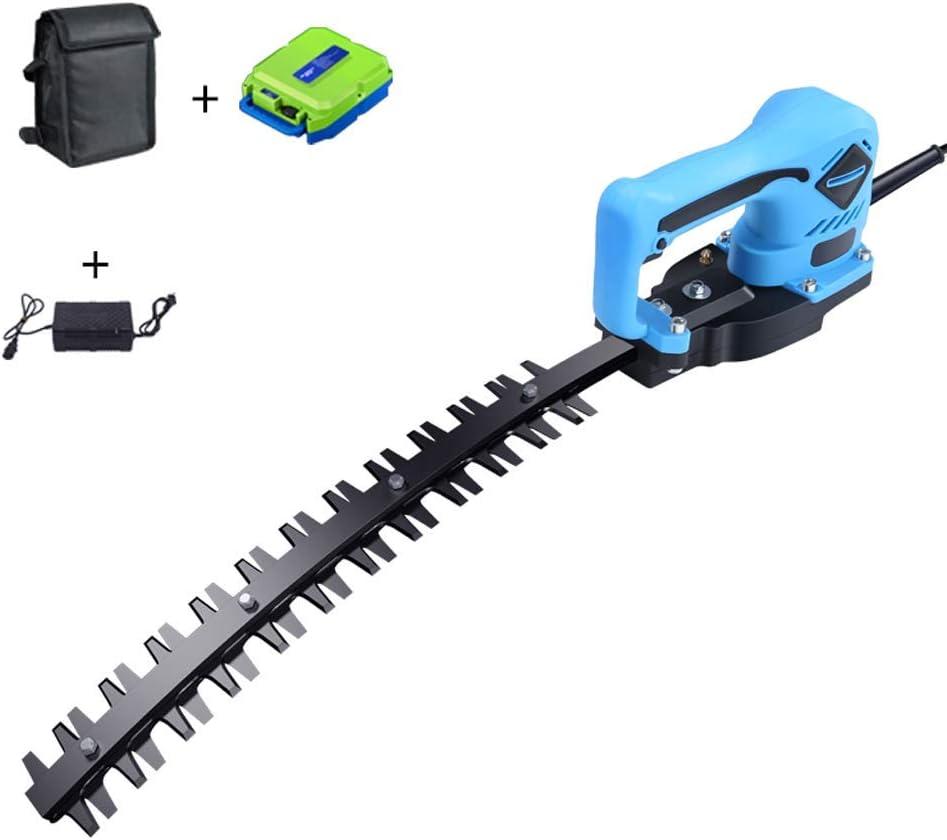 1yess Cortasetos eléctrico Hedge Trimmer de Mano Individual Cortasetos Tijeras de podar Recargable Trimmer Longitud de Hoja 36.5cm Size : 24 ARC (20ah Lithium Battery)