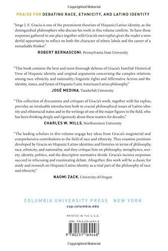 Debating Race, Ethnicity, and Latino Identity: Jorge J. E. Gracia and His Critics