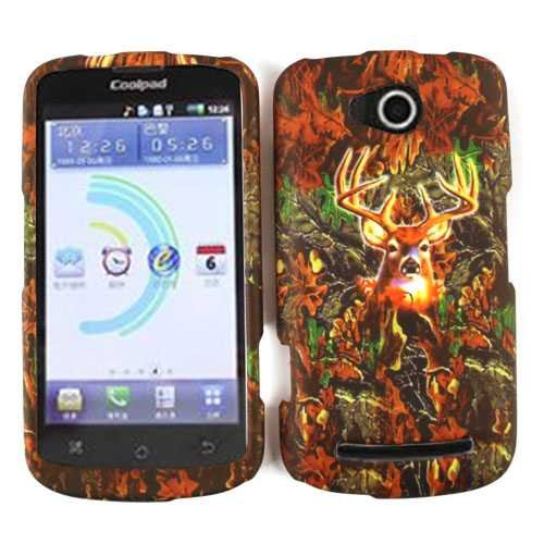 HUNTER FOREST COVER FOR COOLPAD QUATTRO 4G CASE FACEPLATE HARD PLASTIC CAMO DEER WFL025 5860E CELL PHONE ACCESSORY (Camo Quattro)