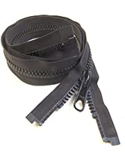 Zipper, Select The Size You Need, YKK, Black, 8, Seperating Zipper, Double Metal Slider