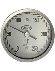 Dwyer Sanitary Bimetal Thermometer BT15S32561 50 300 F 3 Dial 1 5 Clamp 2 5 Stem