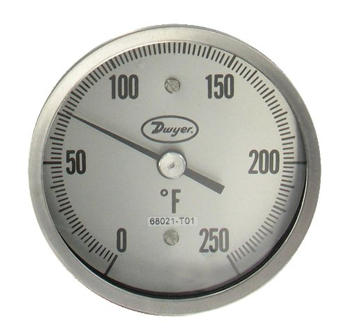 Dwyer® Sanitary Bimetal Thermometer, BT15S32561, 50-300°F, 3'' Dial, 1.5'' Clamp, 2.5'' Stem by Dwyer (Image #2)
