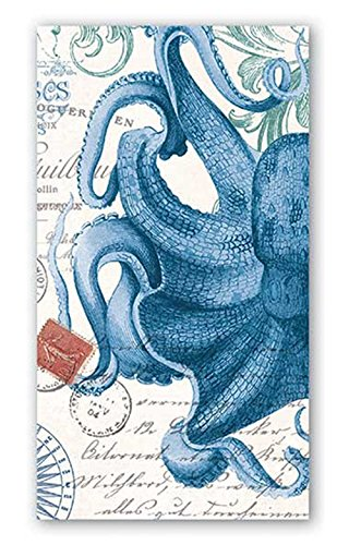 Napkin Octopus (Michel Design Works 15-Count 3-Ply Paper Hostess Napkins, Octopus)