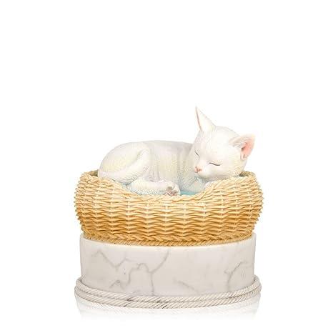 Amazon.com: Perfecto Memorials gato en cesta Urns: Mascotas