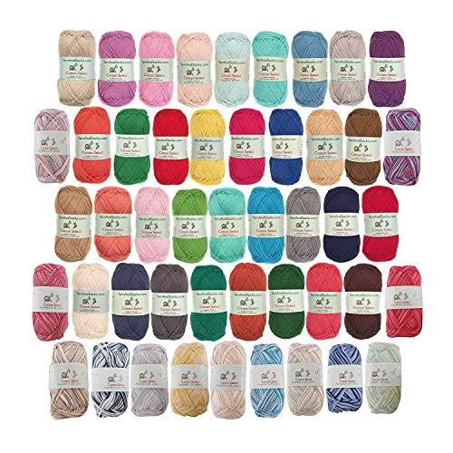 Cotton Select Sport Weight Yarn - 100% Fine Cotton - 12 Skeins - Surprise Pack