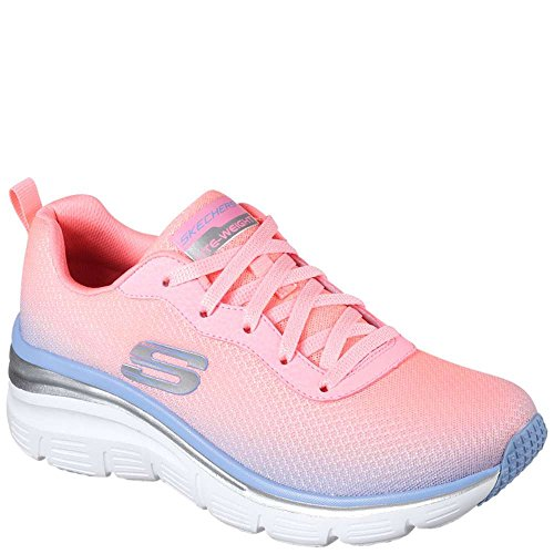 Fit Fashion Womens Build Pink Skechers up Sneakers Lavender 57Rn6zzx