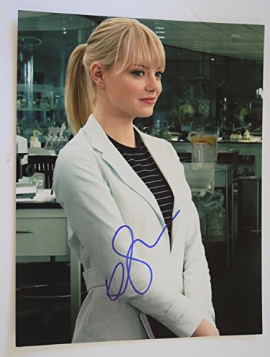 Emma Stone Signed Autographed 11X14 Photo The Amazing Spider-Man COA VD