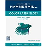 Hammermill Paper, Color Laser Gloss Paper Poly Wrap, 32lb, 8.5x11, Letter, 94 Bright,  300 Sheets / 1 Pack (163110) Made In The USA