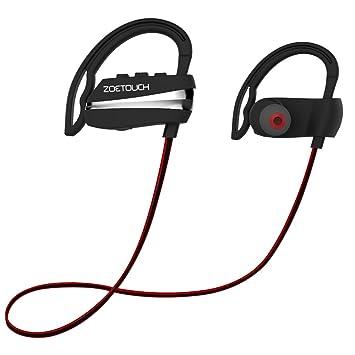 Auriculares Inalámbricos Deportivos, zoeview Auriculares Bluetooth 4.1 Cancelación de Ruido Auricular con Micrófono para iPhone, Samsung, Huawei, XIAOMI, ...