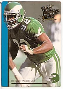 """1991 Action Packed """"All Madden Team"""" NFL Football Card of Reggie White - Philadelphia Eagles - Shipped in Protective ScrewDown Display Case!!"""