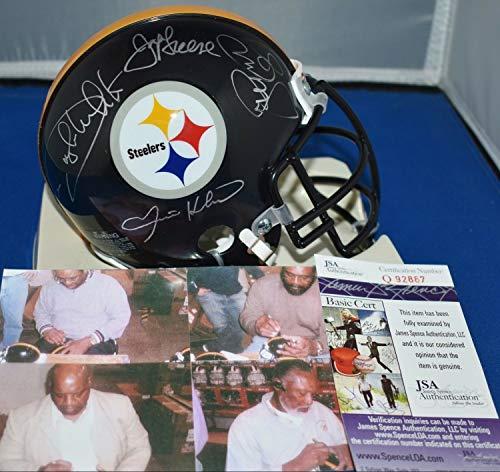 Steel Curtain Autographed Signed Autograph Custom Face Mask Mini Helmet Pittsburgh Steelers JSA Authentic