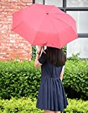 Oak-Leaf-Windproof-Automatic-Compact-Rain-Travel-UmbrellaLightweightPortableAuto-Open-and-CloseRed