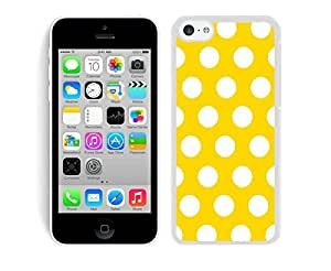 BINGO most popular Polka Dot Yellow and White iPhone 5C Case White Cover