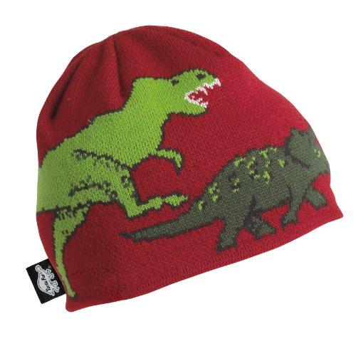 Turtle Fur Jurassic Boys Knit Dinosaur Beanie Lined w/microfleece