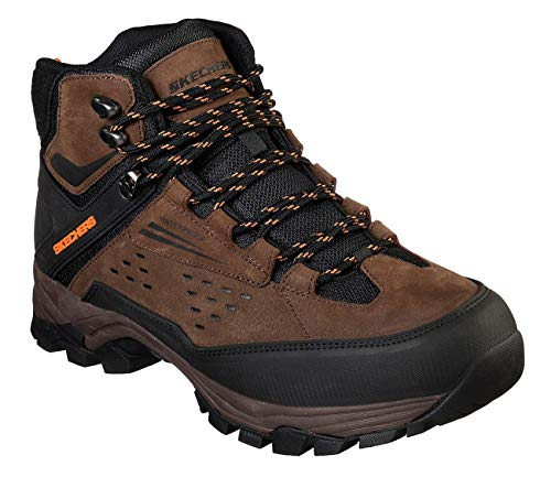 Skechers Men's POLANO-Norwood Waterproof Hiker Hiking Boot, Brown, 11H Medium US