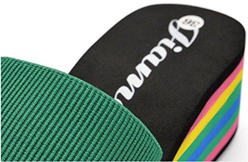 Plate-forme À Talons Hauts Compensées Femmes Sandales Simples Pantoufles Vert
