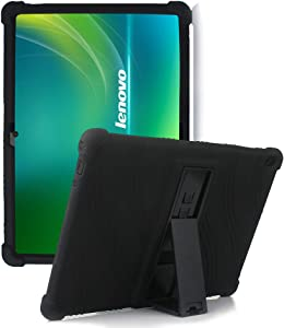 """HminSen Case for Lenovo Smart Tab M10 HD / P10 / M10,Shockproof Protective Silicone Case for Lenovo Tab M10 HD TB-X505F TB-X505L / P10 TB-X705F TB-X705L / M10 TB-X605F 10.1"""" Tablet Cover, (Black)"""