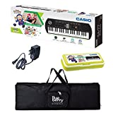 Casio SA 77 Ninja Hattori Mini keyboard with Adapter & Blueberry Bag along with Stationery Box