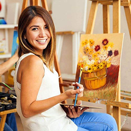 BOSOBO Paint Brushes Set, 2 Pack 20 Pcs Round Pointed Tip Paintbrushes Nylon Hair Artist Acrylic Paint Brushes for…