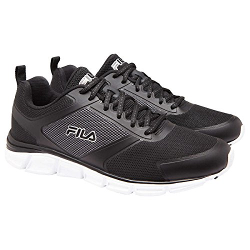 Closeout Athletic Shoes - Fila Men's Memory Foam SteelSprint Athletic Shoes (10.5, Black)