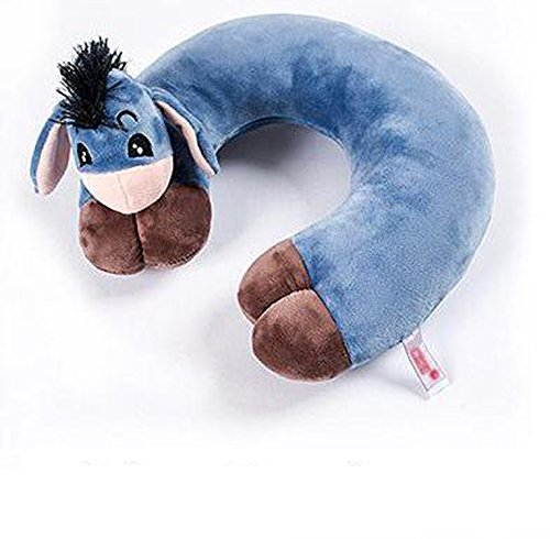 Bansca Cartoon U Animal Shape Decorative Neck Pillows Home Pillows Cushions Neck Pillows For Travel Office Dream Car,Donkey,30X30X9 Cm by Bansca