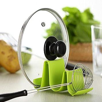 Löffel Topf Deckel Regal Kochen Küche Decor Tool Stand Halter Wave Design