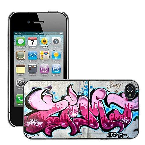 Premio Sottile Slim Cassa Custodia Case Cover Shell // V00002335 graffiti rose // Apple iPhone 4 4S 4G