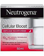 Neutrogena Cellular Boost Anti-Age nachtcrème met Hexinol technologie en vitamine C, ook geschikt voor de gevoelige huid, 1 x 50 ml