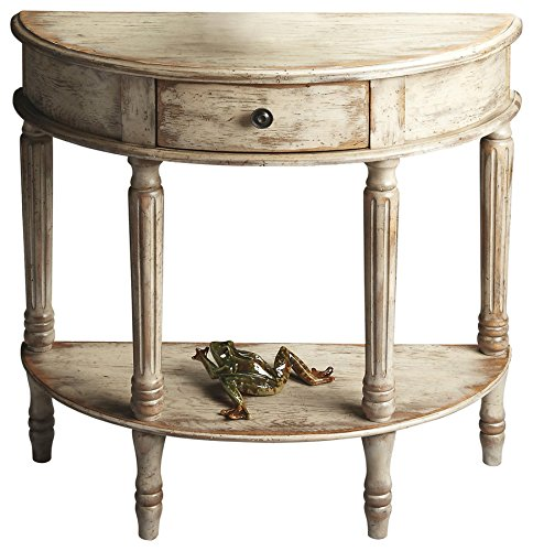 BUTLER 667230 MOZART CHATEAU GRAY DEMILUNE CONSOLE TABLE