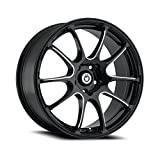"Konig Illusion Black Ball Cut Machined Wheel (17x7""/5x114.3mm)"