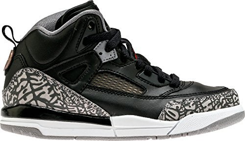 Jordan Spizike Black/Varsity Red-Cement Grey (Little Kid) (1Y) by NIKE